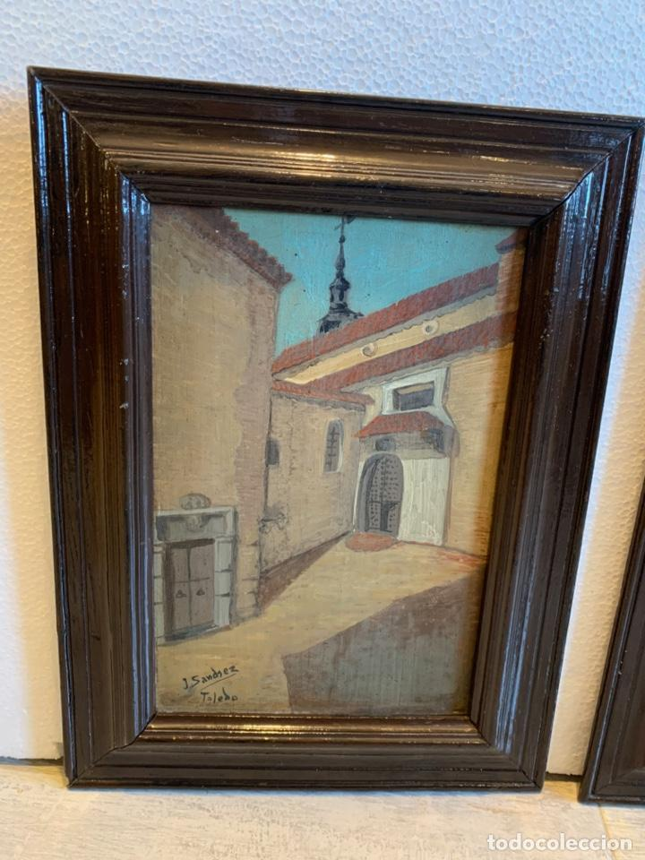 Arte: CONJUNTO DE 4 CUADROS AL OLEO SOBRE TABLA FIRMADOS - Foto 3 - 222483555