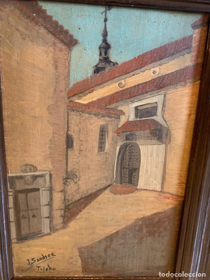 Arte: CONJUNTO DE 4 CUADROS AL OLEO SOBRE TABLA FIRMADOS - Foto 4 - 222483555