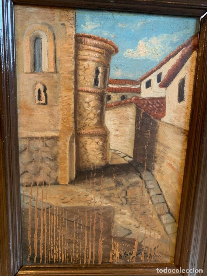 Arte: CONJUNTO DE 4 CUADROS AL OLEO SOBRE TABLA FIRMADOS - Foto 8 - 222483555