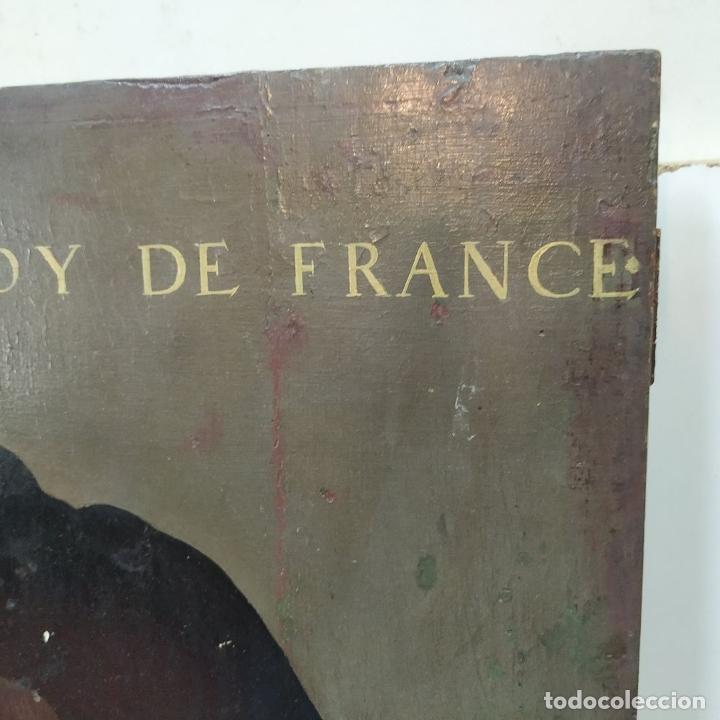 Arte: RETRATO DE CARLOS V REY DE FRANCIA. OLEO SOBRE TABLA. ANÓNIMO DE ESCUELA FLAMENCA. FRANCIA. XVI (?) - Foto 7 - 222537317