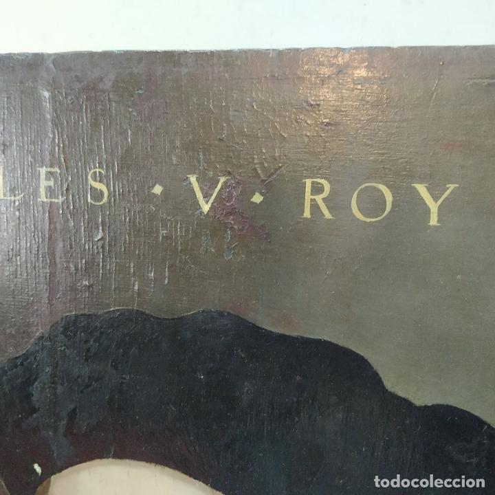 Arte: RETRATO DE CARLOS V REY DE FRANCIA. OLEO SOBRE TABLA. ANÓNIMO DE ESCUELA FLAMENCA. FRANCIA. XVI (?) - Foto 10 - 222537317
