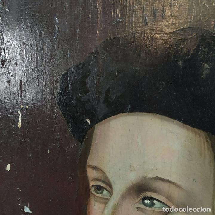 Arte: RETRATO DE CARLOS V REY DE FRANCIA. OLEO SOBRE TABLA. ANÓNIMO DE ESCUELA FLAMENCA. FRANCIA. XVI (?) - Foto 11 - 222537317