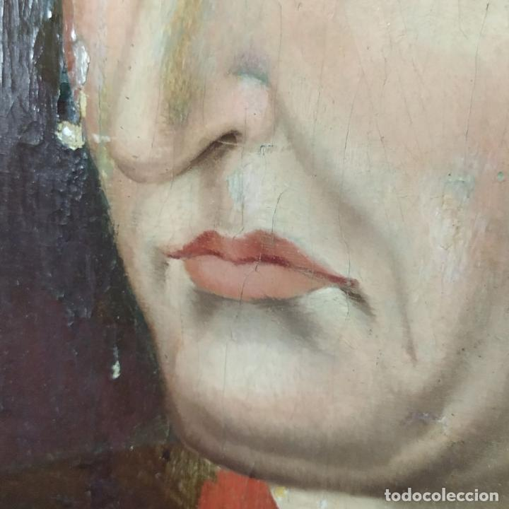 Arte: RETRATO DE CARLOS V REY DE FRANCIA. OLEO SOBRE TABLA. ANÓNIMO DE ESCUELA FLAMENCA. FRANCIA. XVI (?) - Foto 12 - 222537317