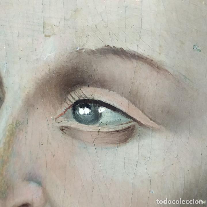 Arte: RETRATO DE CARLOS V REY DE FRANCIA. OLEO SOBRE TABLA. ANÓNIMO DE ESCUELA FLAMENCA. FRANCIA. XVI (?) - Foto 13 - 222537317