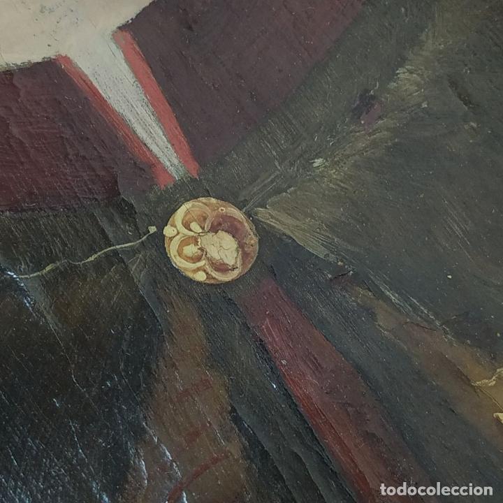 Arte: RETRATO DE CARLOS V REY DE FRANCIA. OLEO SOBRE TABLA. ANÓNIMO DE ESCUELA FLAMENCA. FRANCIA. XVI (?) - Foto 15 - 222537317