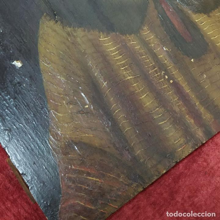 Arte: RETRATO DE CARLOS V REY DE FRANCIA. OLEO SOBRE TABLA. ANÓNIMO DE ESCUELA FLAMENCA. FRANCIA. XVI (?) - Foto 16 - 222537317