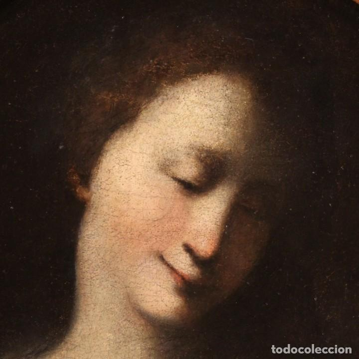 Arte: Pintura francesa antigua de un retrato femenino del siglo XVIII. - Foto 4 - 222564746