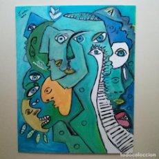 Arte: PINTURA CUBISTA, SURREALISMO. ÓLEO. FIRMADO.. Lote 222580225