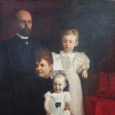 Arte: AUTORRETRATO DEL PINTOR CON SU FAMILIA. OBRA ORIGINAL DE PEDRO BLANES VIALE (URUGUAY 1878-1926).. Lote 222611602