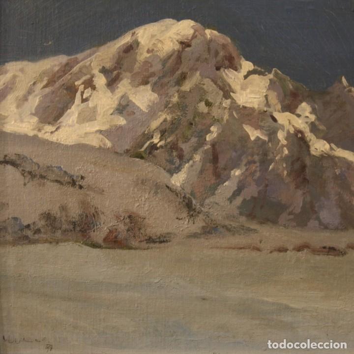 Arte: Pintura italiana firmada paisaje de montaña - Foto 2 - 222625191