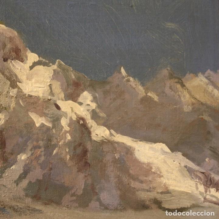 Arte: Pintura italiana firmada paisaje de montaña - Foto 4 - 222625191
