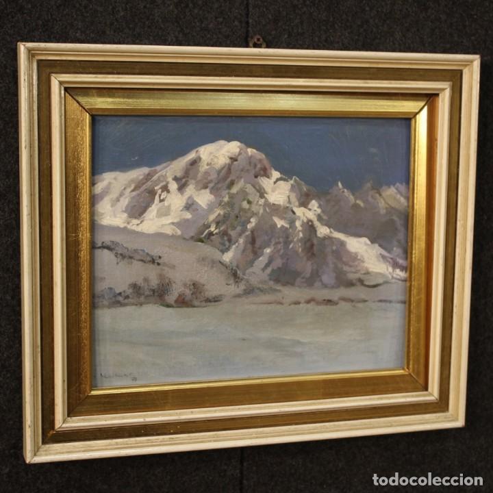 Arte: Pintura italiana firmada paisaje de montaña - Foto 5 - 222625191