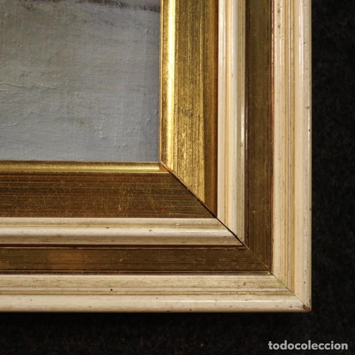 Arte: Pintura italiana firmada paisaje de montaña - Foto 6 - 222625191