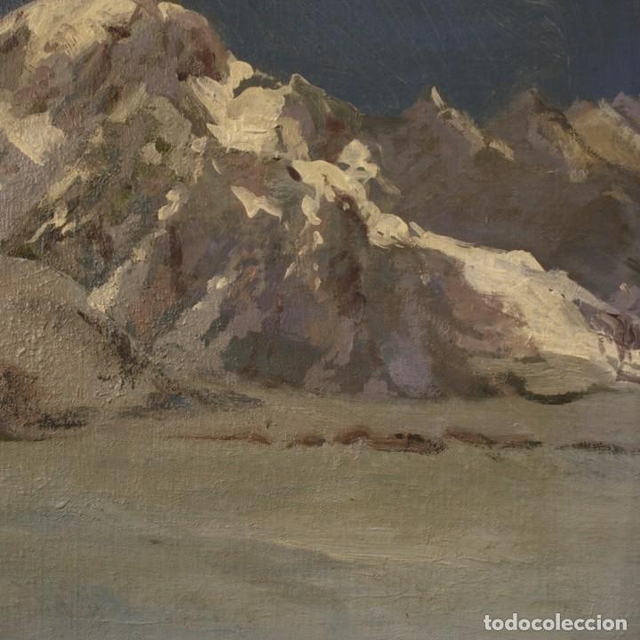 Arte: Pintura italiana firmada paisaje de montaña - Foto 7 - 222625191