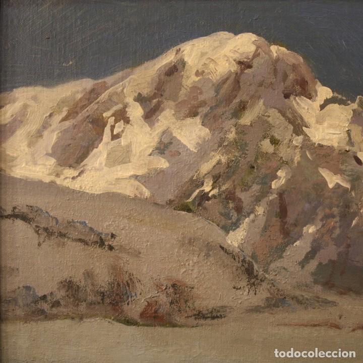 Arte: Pintura italiana firmada paisaje de montaña - Foto 8 - 222625191