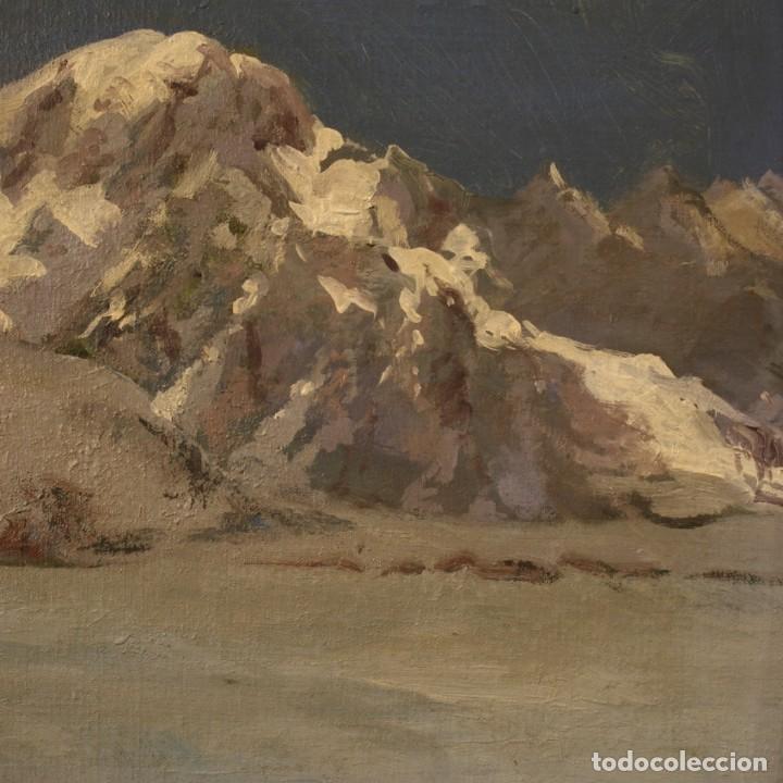 Arte: Pintura italiana firmada paisaje de montaña - Foto 9 - 222625191
