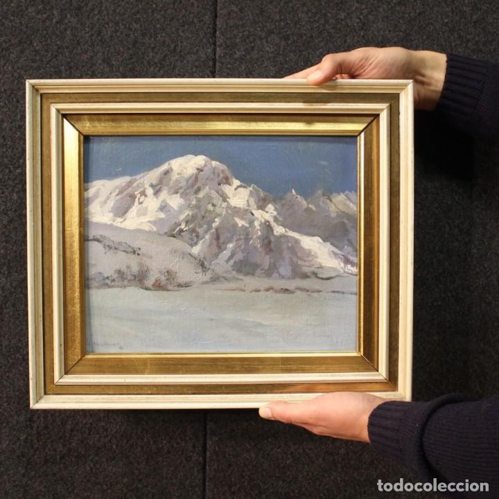 Arte: Pintura italiana firmada paisaje de montaña - Foto 12 - 222625191