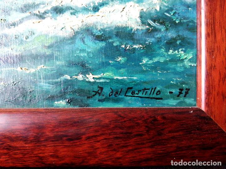 Arte: Pintura oleo sobre tabla firmado Castillo 77, 30x39cm - Foto 3 - 222632061