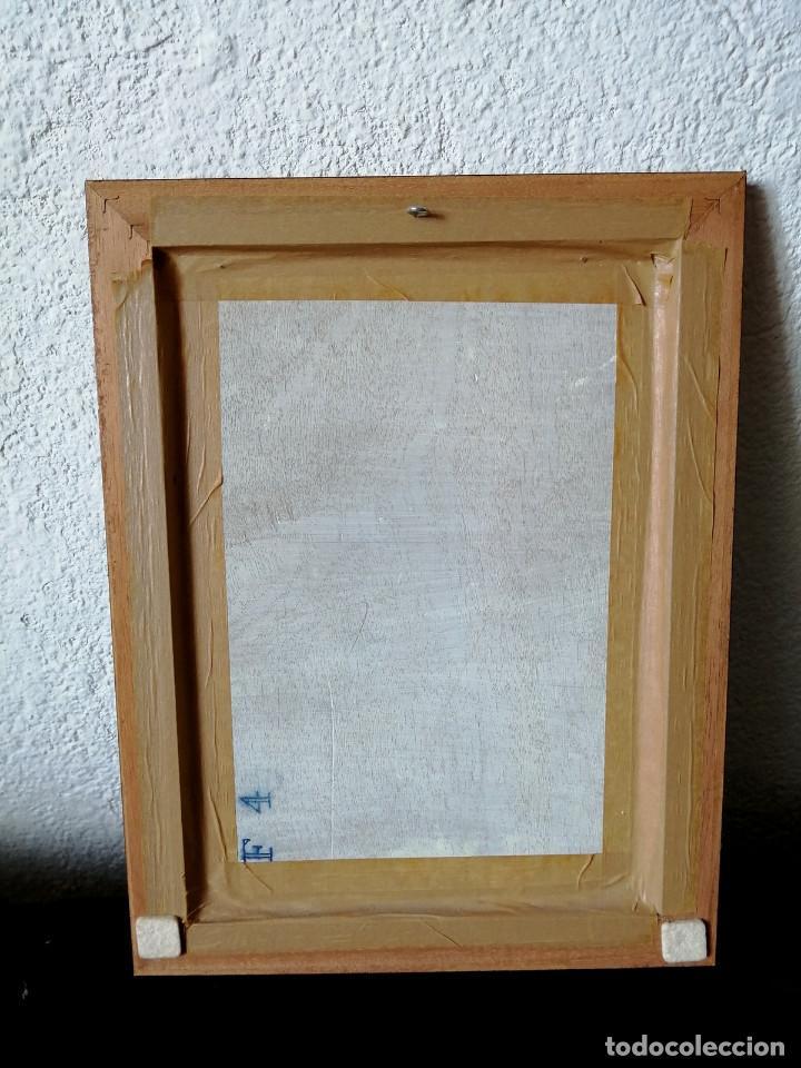 Arte: Pintura oleo sobre tabla firmado Castillo 77, 30x39cm - Foto 4 - 222632061
