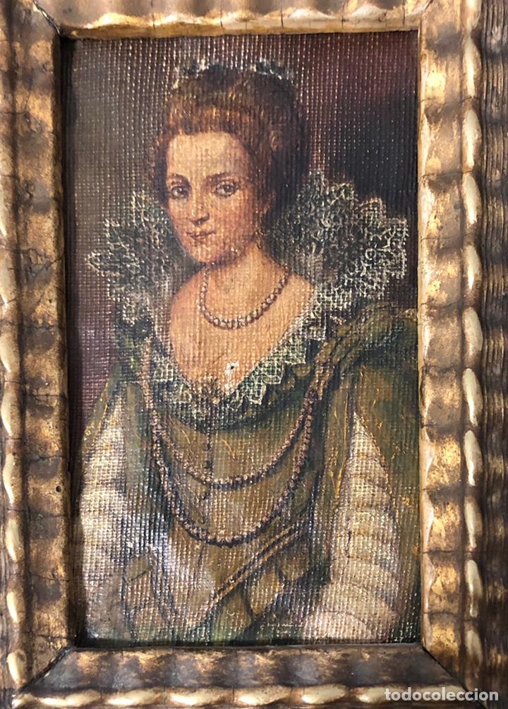 Arte: Antiguo cuadro pintado al óleo, de S. XVIII - Foto 2 - 222638823