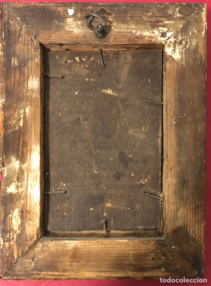 Arte: Antiguo cuadro pintado al óleo, de S. XVIII - Foto 3 - 222638823