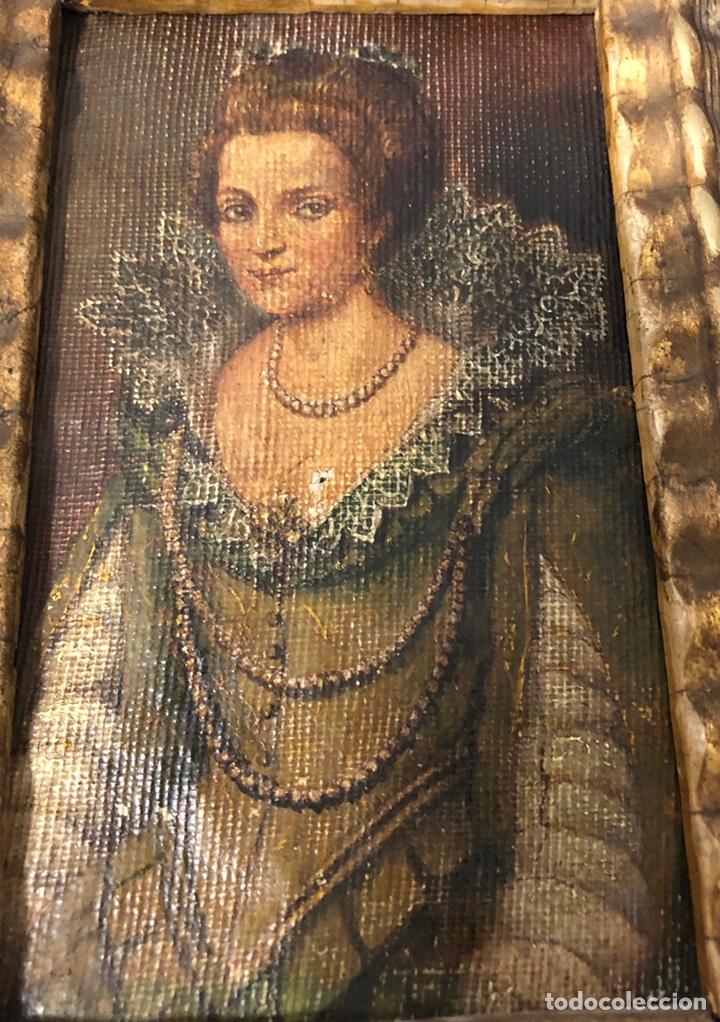 Arte: Antiguo cuadro pintado al óleo, de S. XVIII - Foto 5 - 222638823