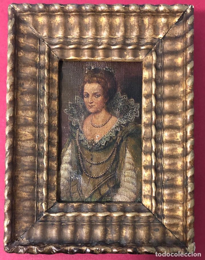 ANTIGUO CUADRO PINTADO AL ÓLEO, DE S. XVIII (Arte - Pintura - Pintura al Óleo Antigua siglo XVIII)