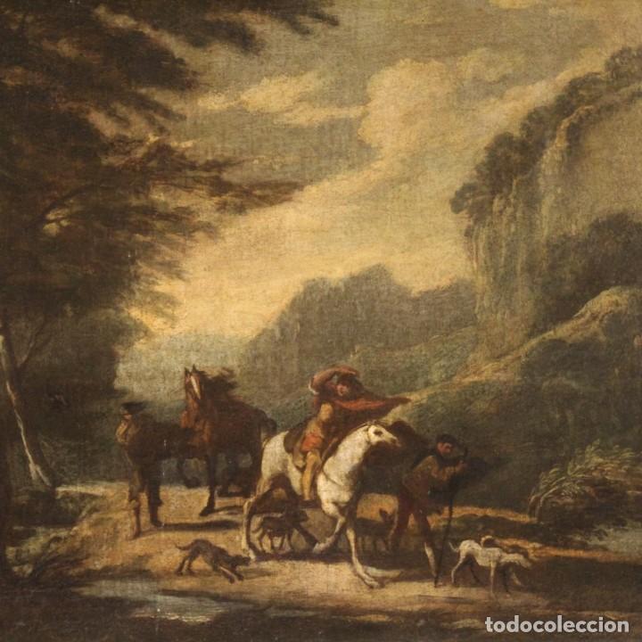 PINTURA ITALIANA ANTIGUA DE PAISAJE DEL SIGLO XVIII (Arte - Pintura - Pintura al Óleo Antigua siglo XVIII)