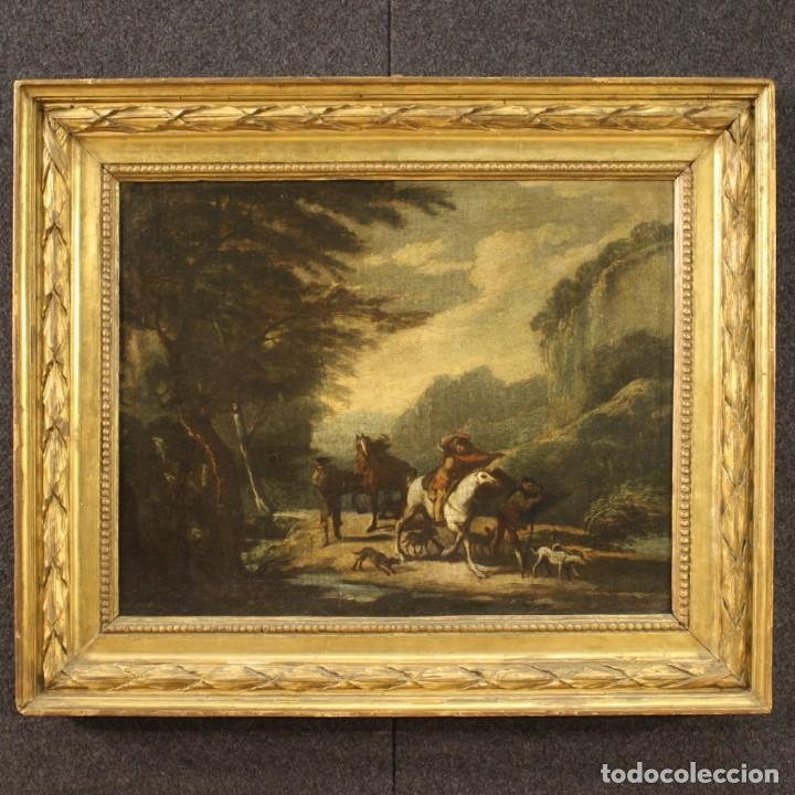 Arte: Pintura italiana antigua de paisaje del siglo XVIII - Foto 2 - 222664198