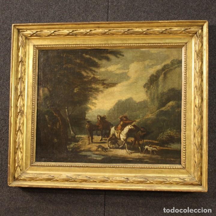 Arte: Pintura italiana antigua de paisaje del siglo XVIII - Foto 10 - 222664198