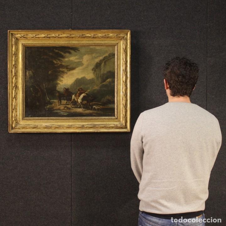 Arte: Pintura italiana antigua de paisaje del siglo XVIII - Foto 12 - 222664198