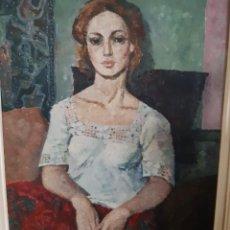 "Arte: MANUEL RICART SERRA. OLEO SOBRE LIENZO. ""ANNA"" 1973. Lote 222674472"