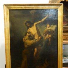 Arte: ABRAZO DE SAN FRANCISCO A CRISTO, S. XVII. Lote 222534422