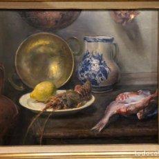 Arte: JULIO PERIS BRELL (VALENCIA 1866-1944) BODEGÓN. Lote 222713355