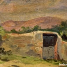 Arte: JOAN VIDAL I VENTOSA (BARCELONA, 1880 - 1966). OLEO/TELA 21 X 15 CM. ALREDEDORES DE HORTA. C. 1897.. Lote 222715530