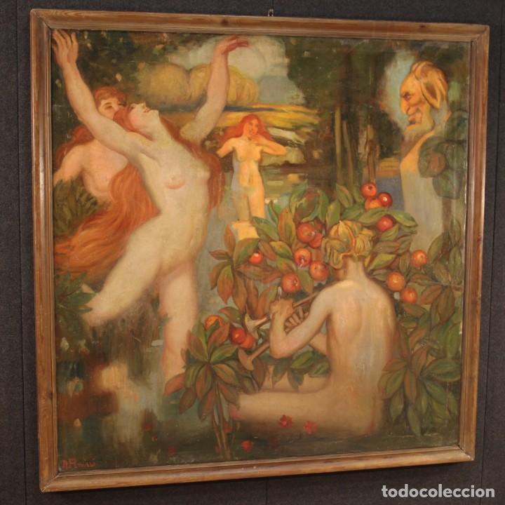 Arte: Pintura italiana firmada que representa desnudos - Foto 3 - 222745290