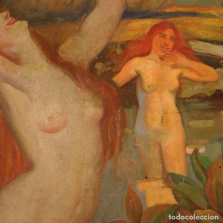 Arte: Pintura italiana firmada que representa desnudos - Foto 6 - 222745290