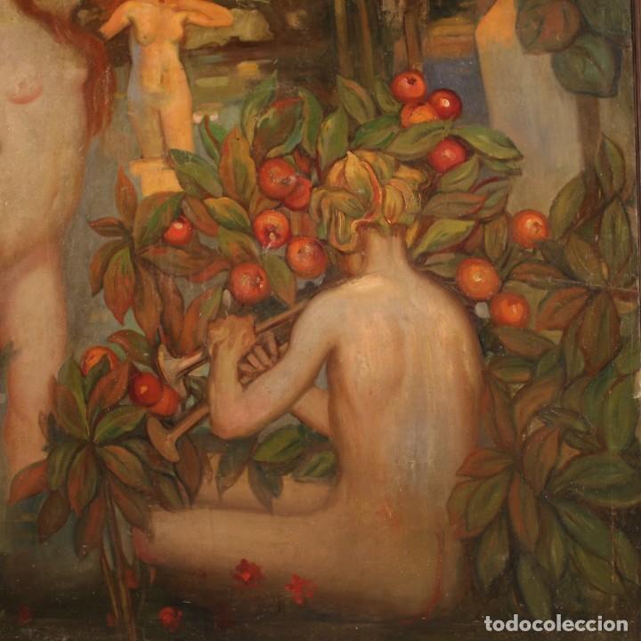 Arte: Pintura italiana firmada que representa desnudos - Foto 8 - 222745290