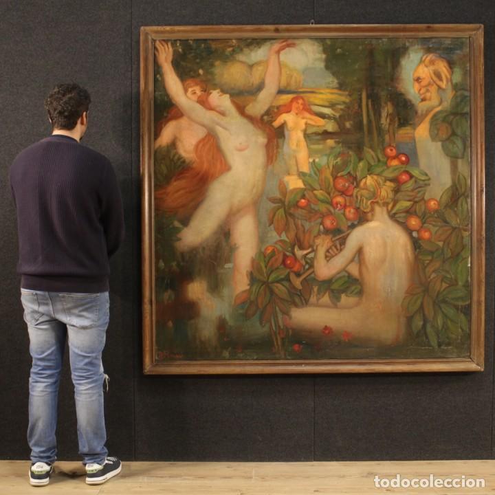 Arte: Pintura italiana firmada que representa desnudos - Foto 11 - 222745290