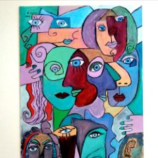 Arte: CUADRO, PINTURA SURREALISTA, ARTE BRUTO, MODERNO. ÓLEO. FIRMADO.. Lote 222802302