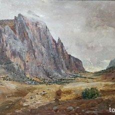 Arte: JOSÉ FERNÁNDEZ ALVARADO (1875-1935). TÍTULO: LOS GAITANES. Lote 222822202