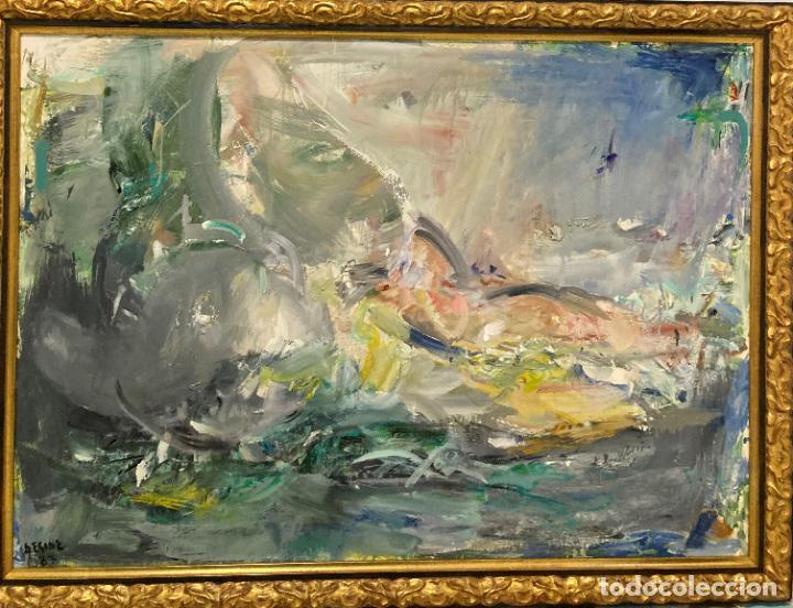 BODEGÓN POR RAMÓN LORDA VIDAL (DESIDE) (NADOR, MARRUECOS 1931- MARÍN, PONTEVEDRA 2016) (Arte - Pintura - Pintura al Óleo Contemporánea )