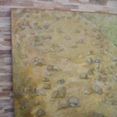 Arte: OLEO SOBRE TABLERO PIEDAS EN EL CAMINO DE M.CALVET. Lote 222932733