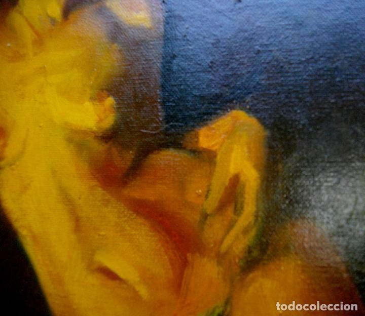 Arte: seguidor de CELEDONIO PERELLON ( OLEO SOBRE LIENZO 72 X 54 CTMS) CON MARCO - Foto 3 - 205000447