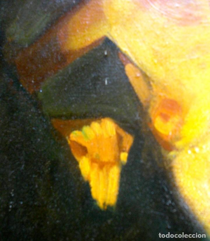 Arte: seguidor de CELEDONIO PERELLON ( OLEO SOBRE LIENZO 72 X 54 CTMS) CON MARCO - Foto 4 - 205000447
