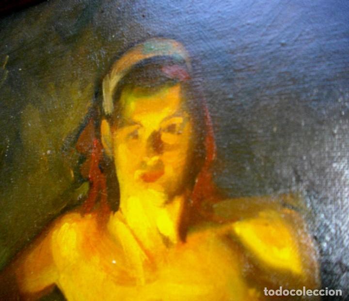 Arte: seguidor de CELEDONIO PERELLON ( OLEO SOBRE LIENZO 72 X 54 CTMS) CON MARCO - Foto 5 - 205000447