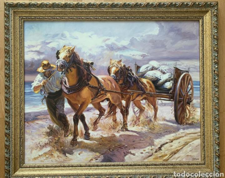 ESCUELA VALENCIANA ARRASTRE PINTURA COSTUMBRISTA (Arte - Pintura - Pintura al Óleo Contemporánea )