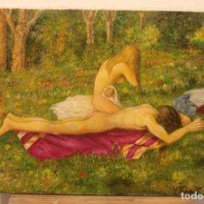 Arte: OLEO SOBRE LIENZO DEL PINTOR VALENCIANO VICENTE TAMARIT. FIRMADO. 60X50CM. Lote 223243628