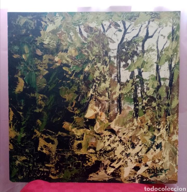 Arte: Rareza. Estupenda pintura Obra y ensayo. Obra: bosque escondido. Combina diferentes tonos verdes - Foto 2 - 223328157