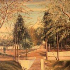 Arte: J. MONTES, OLEO SOBRE LIENZO DE GRANDES DIMENSIONES, FIRMADO POR EL AUTOR. ENMARCADO. 87X106CM. Lote 223340821